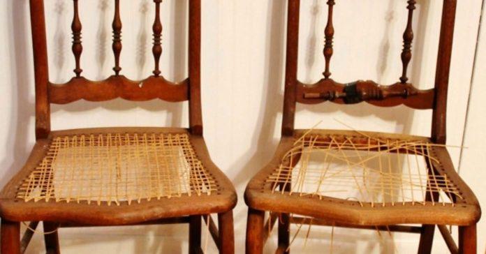 En lugar de tirar sus viejas sillas de madera las transformo en algo realmente sorprendente banner
