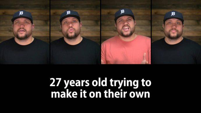 Canta consigo mismo en este divertido vídeo burlándose de los Millennials