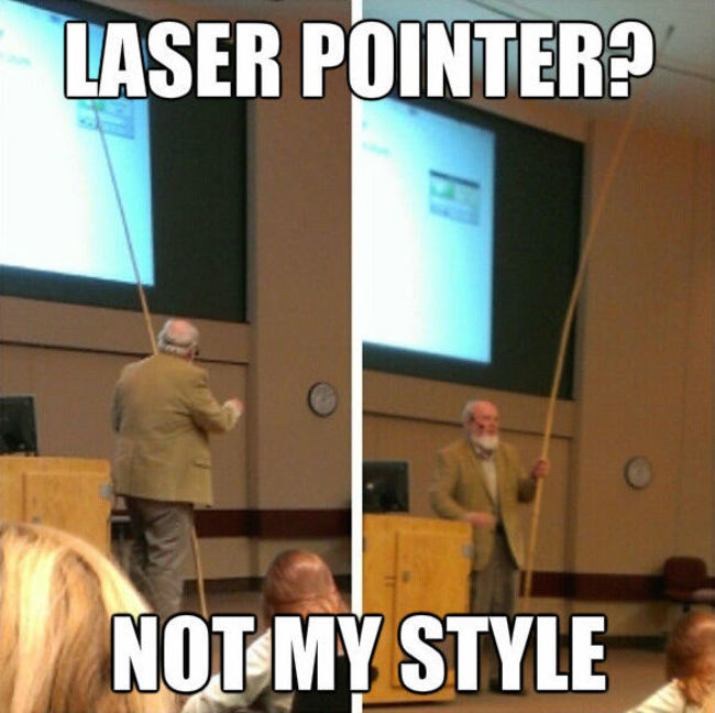 el laser pointer rustico