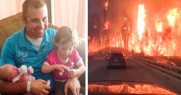 esta familia huyo de su ciudad en llamas lo que el padre descubre en el coche te rompera el corazon