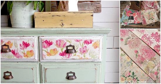 11 Ideas creativas para utilizar utilizar y transformar las servilletas de papel en tu hogar