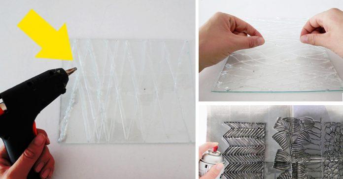 dibuja silicona cola termofusible spray pintura jarrones banner
