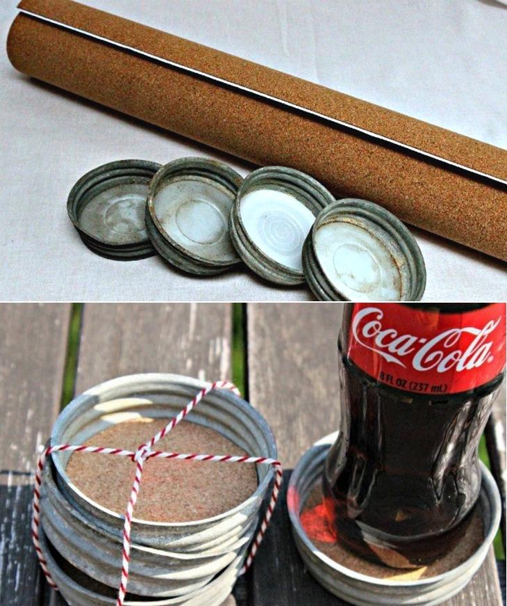 8 Increíbles formas de utilizar y reciclar las tapas de tus frascos