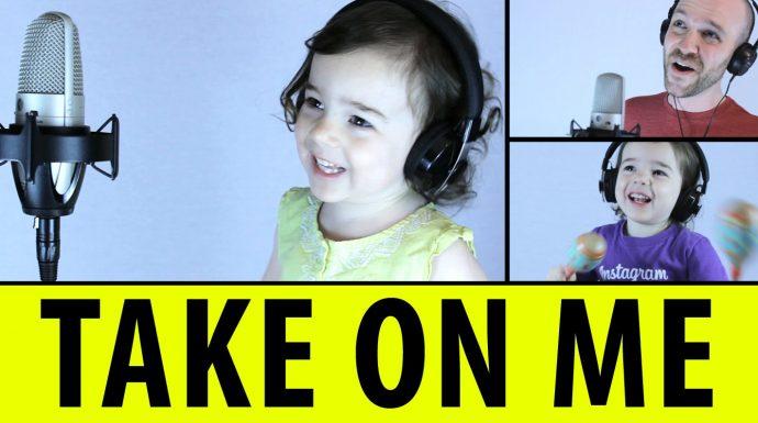"Un padre se une a su hija para cantar este precioso cover de ""Take on me"" (a-ha)"