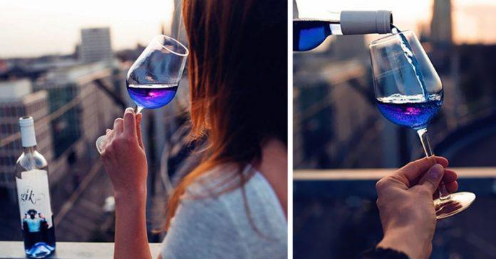 El Vino azul se ha convertido en una realidad banner