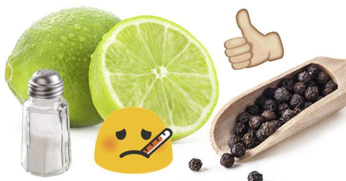 Los numerosos beneficios de tomar limón con pimienta y sal