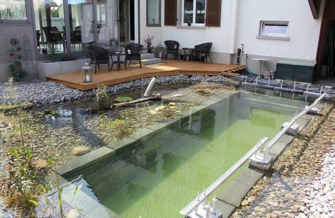 BubenBer: Una Piscina se viraliza al transformarse cuando llega el agua