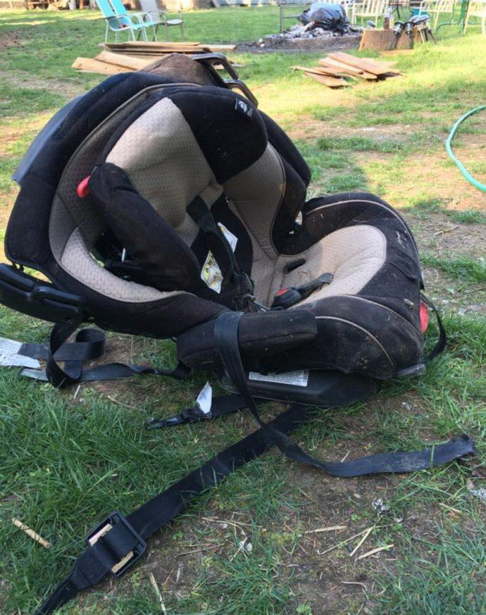 Kylee: Una madre se hace viral con la foto del asiento de su bebé en el coche