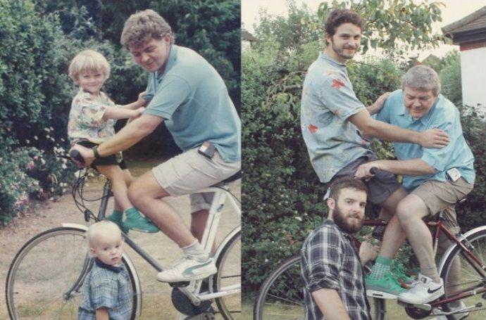 Las 20 mejores fotos familiares recreadas años después que te harán reír a carcajadas