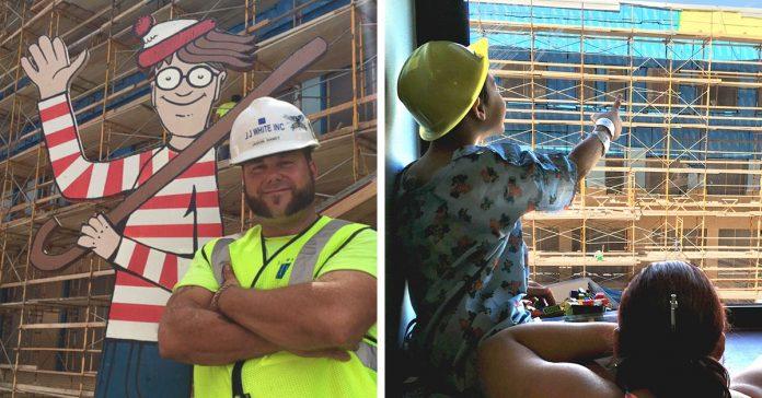 Este constructor tuvo una idea magnifica con los ninos del hospital banner