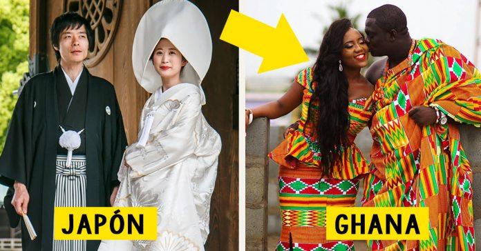 como son vestidos trajes de boda en todos los paises mundo