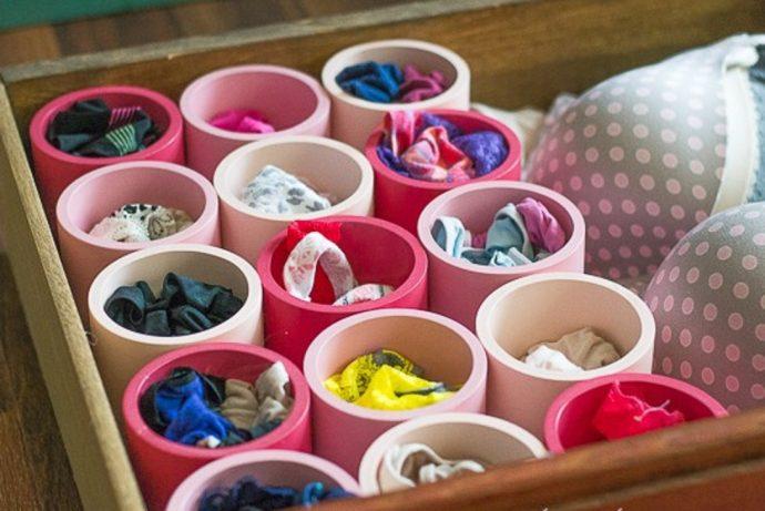 Crea tus propios sistemas de almacenaje fácilmente con unos tubos de PVC