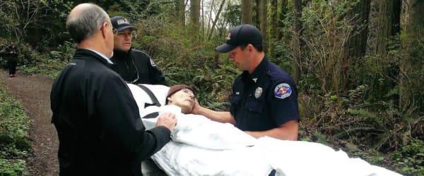 Los bomberos sacaron a un hombre agonizante del asilo para concederle su último deseo...
