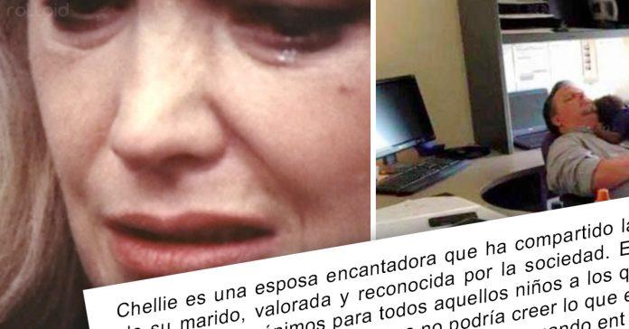 mujer visita marido oficina acaba llorando