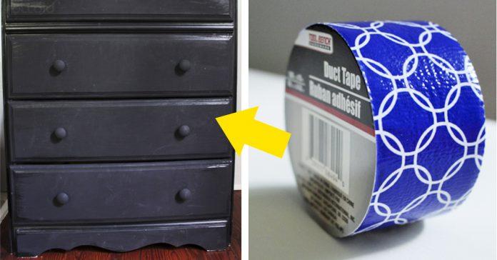 transforma tu comoda con cinta adhesiva