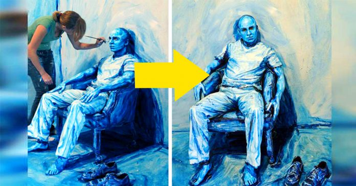 esta artista usa una nueva tecnica visual para que objetos 3d parezcan imagenes 2d banner