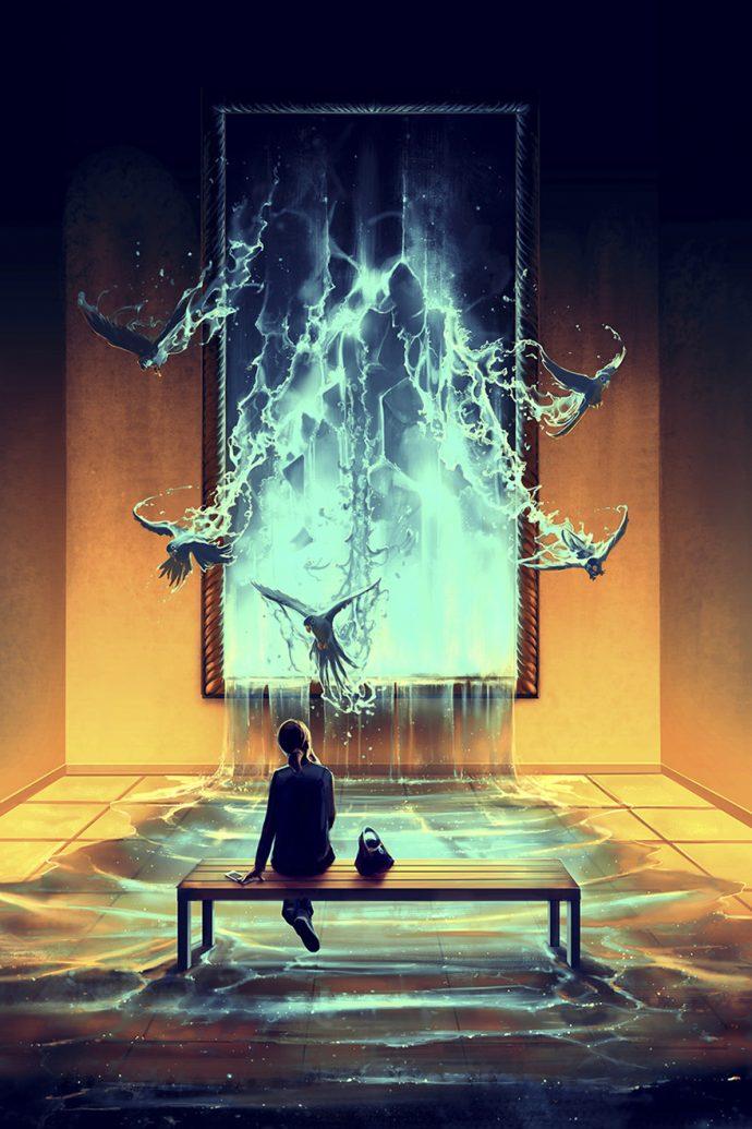 Este artista francés crea unos impresionantes universos de fantasía inspirados por Hayao Miyazaki y Tim Burton