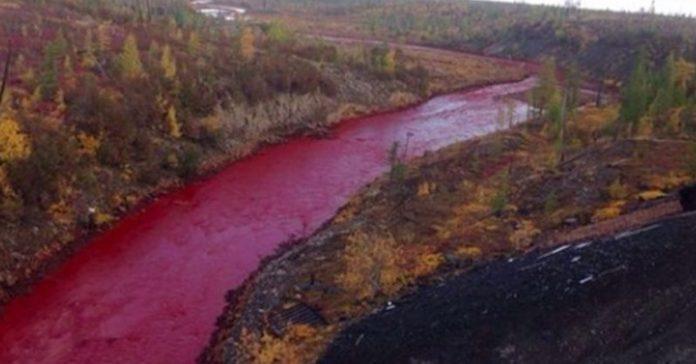 este extrano rio en rusia se ha vuelto rojo y la gente esta horrorizada banner