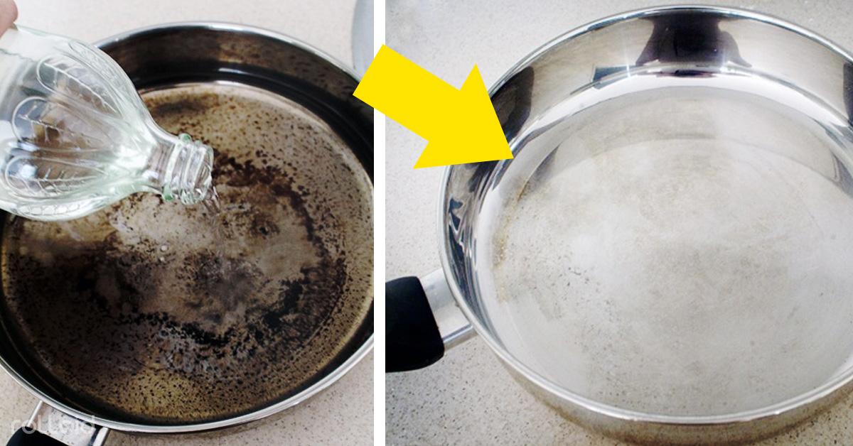 limpiar sarten vinagre bicarbonato dejarla nueva quemada
