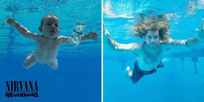 El famoso Bebé de Nirvana ha recreado sus fotografías 25 años después... ¡Espera a ver el resultado!