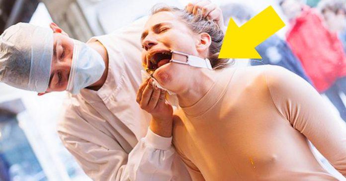 una mujer es torturada en el centro de londres para demostrar las torturas que sufren los animales en algunas empresas banner
