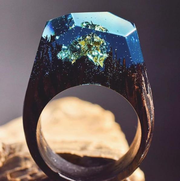 15 anillos de madera con un interior impresionante inspirado en la naturaleza