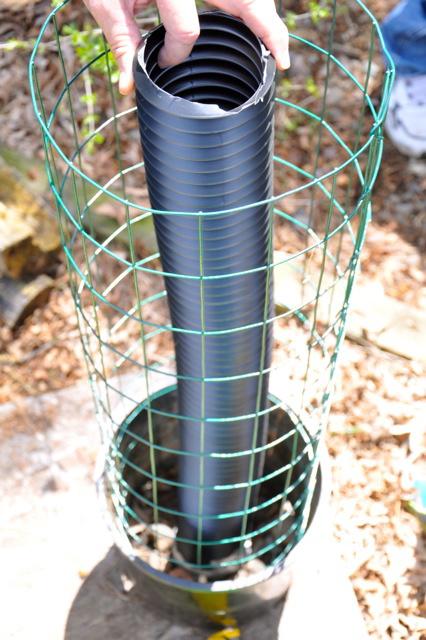 Un tubo y una maceta bastan para dar un giro radical a cualquier terraza