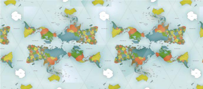 El mapa del mundo que muestra las proporciones reales de nuestro planeta