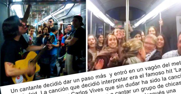 el metro de madrid se pone a bailar como loco cuando este musico callejero entra en el vagon banner