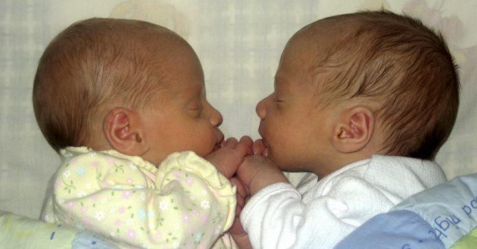 estos gemelos nacen entre el horario de verano y el de invierno por lo que ambos son el mayor banner 1