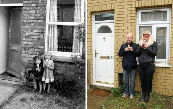 Un fotógrafo se viraliza al recrear las fotos de sus protagonistas 40 años después