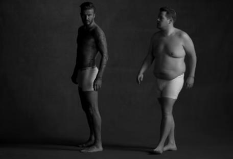Beckham y Corden aparecen en un anuncio muy divertido de ropa interior