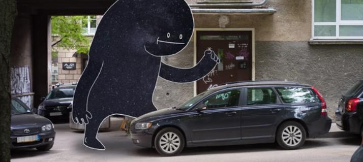Este corto animado representa cómo se hace de noche