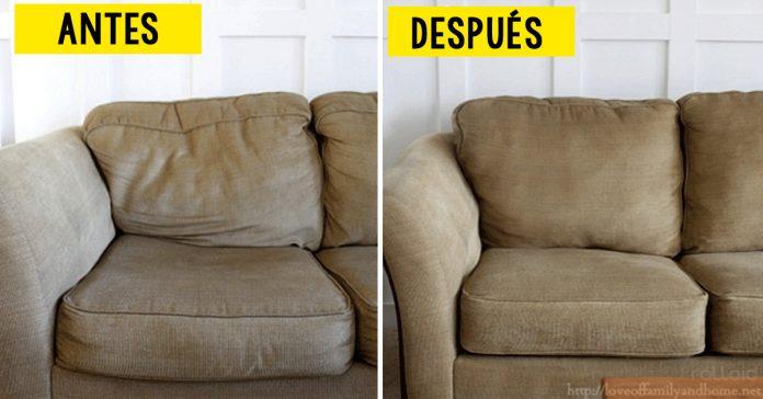 truco reparar sofa como nuevo