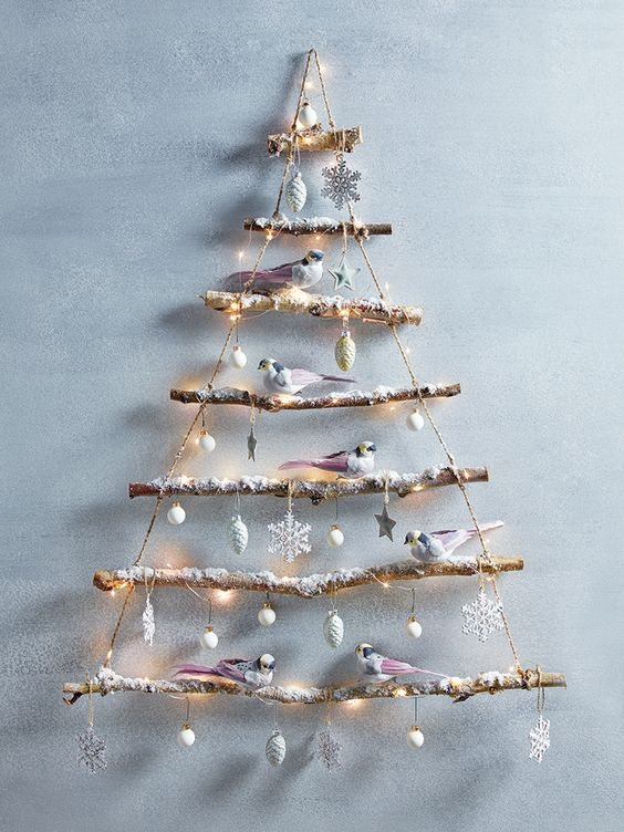 Crea tu propio árbol de navidad con tan solo unas ramas