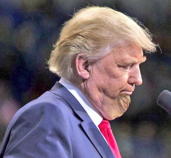 Cuando Trump trató de censurar las imágenes de su nada favorecedora barbilla... ¡Así reaccionó internet!
