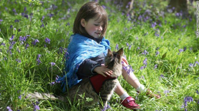 Esta niña autista de 5 años luchó contra la ansiedad hasta que se hizo amiga de este gato