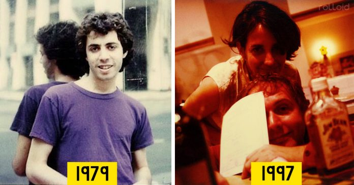 hombre fotografia polaroid durante anos