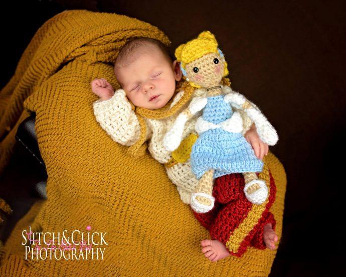 Adorables trajes de crochet de disney para recién nacidos.
