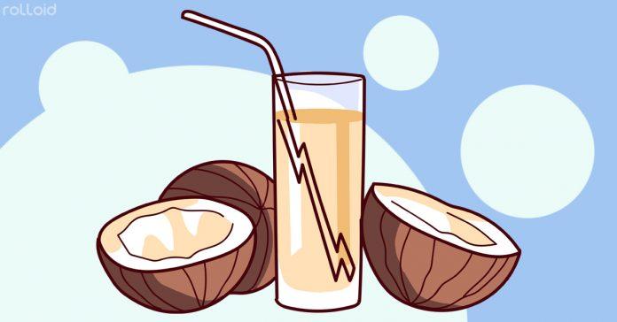 beneficios beber agua coco banner