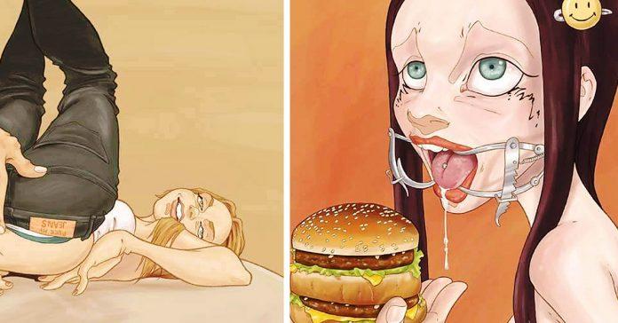 impactantes imagenes ilustraciones decadencia humana banner