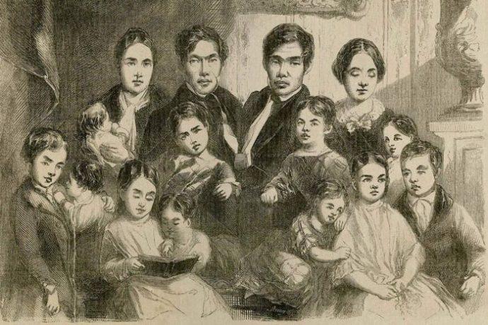 La historia de los hermanos siameses Chang y Eng.
