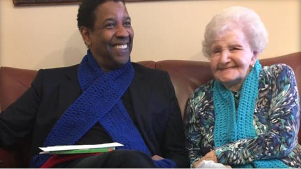 Denzel Washington se reencontró con esta mujer de 99 años por un motivo muy especial