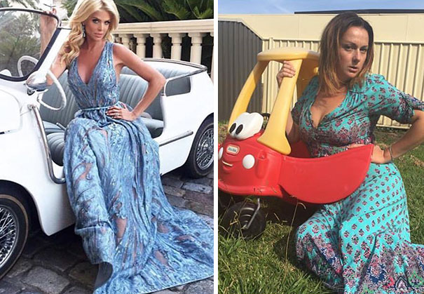 Una mujer ha recreado las 20 fotografías más imposibles de los famosos armando un desastre