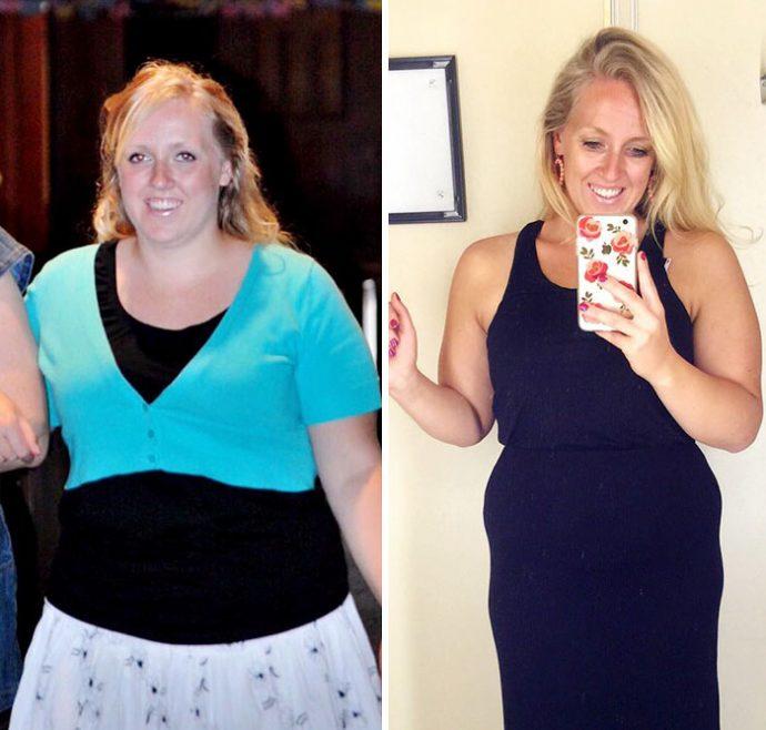 Este increíble cambio de una madre demuestra que el peso no es lo que importa