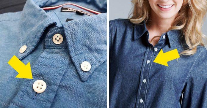 por que botones camisa hombres mujeres distinto lado banner