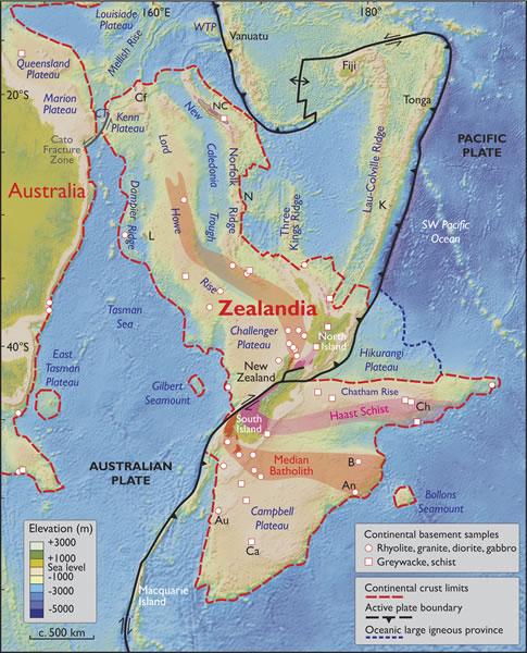 """Zelandia, el """"nuevo"""" continente sumergido en las aguas del Pacífico"""