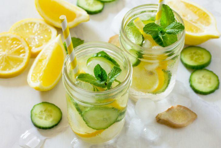 agua jengibre limon