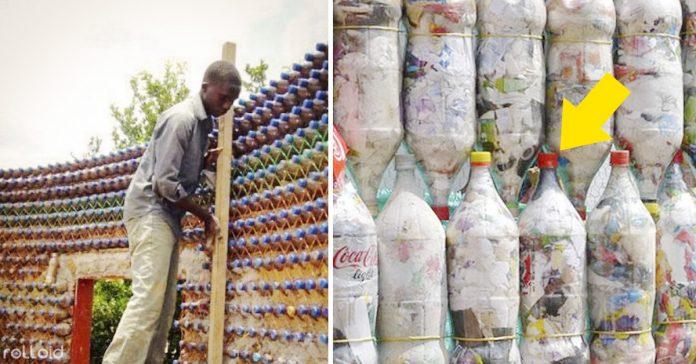 construir casa viviendas con botellas de plastico nigeria banner
