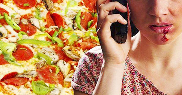 mujer llama 911 violencia domestica pizza banner